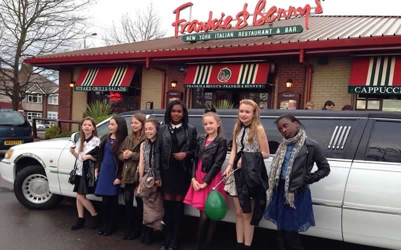 Kids Limo Parties At Frankie Bennys With Limousines In London - Childrens birthday party ideas in london