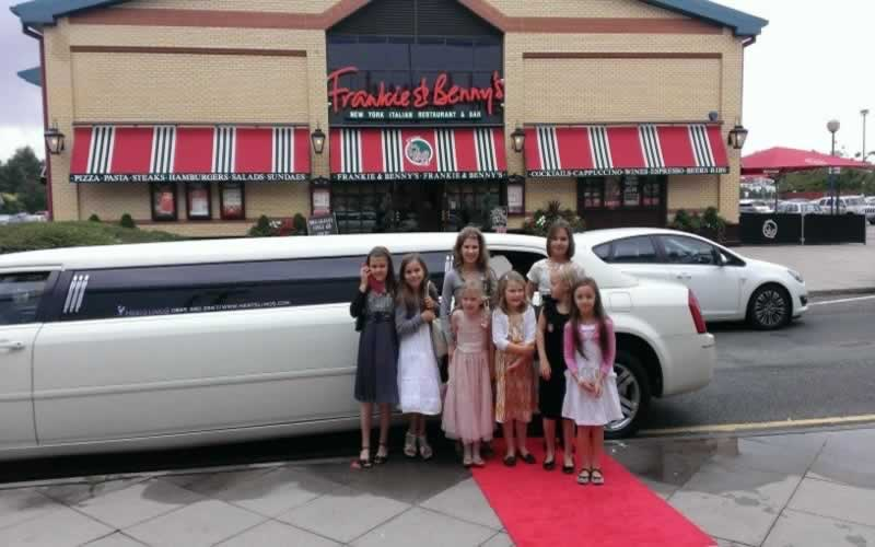 Kids Limo Parties At Frankie Bennys With Limousines In London - Childrens birthday party ideas east london