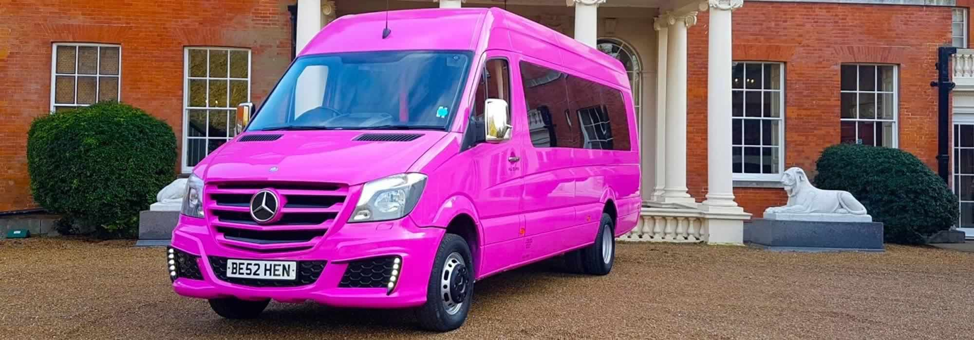 Pink Mercedes Party Bus | Limousines in London